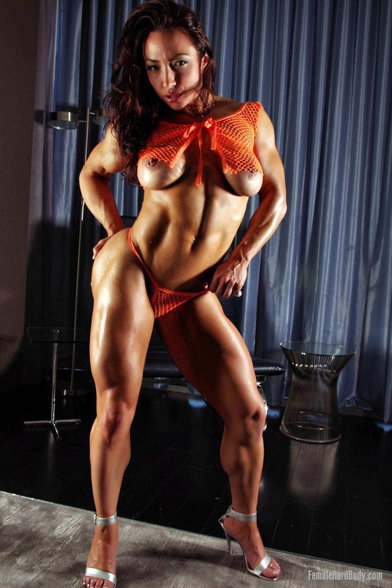 women body builder nipples
