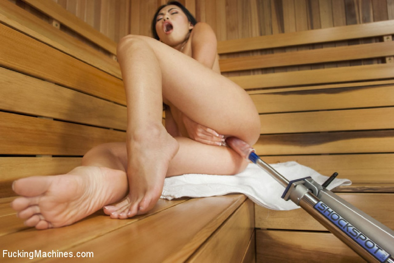 Asian chick screaming on sybian join told