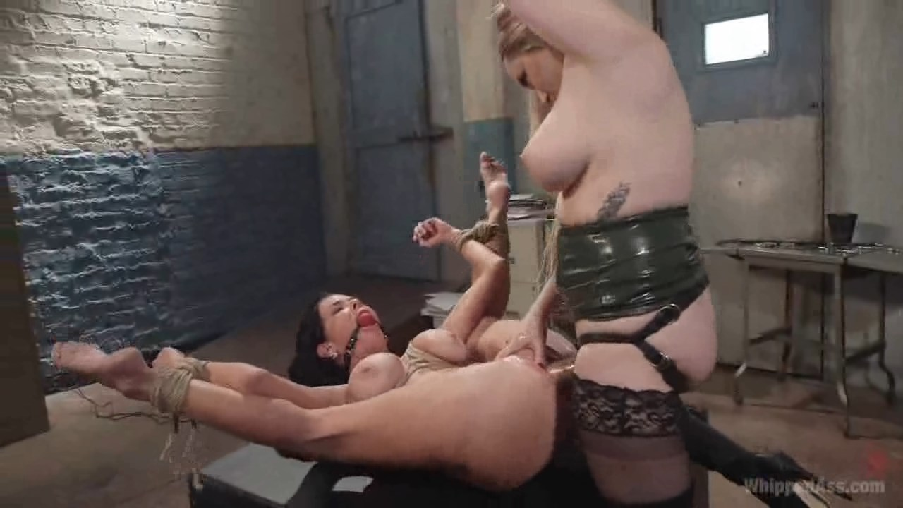 Strapon bondage dirty rough threesome if 3