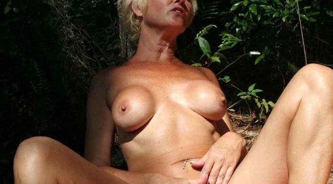 Real Tampa Swingers - Tracy Gets Naked in The Woods!