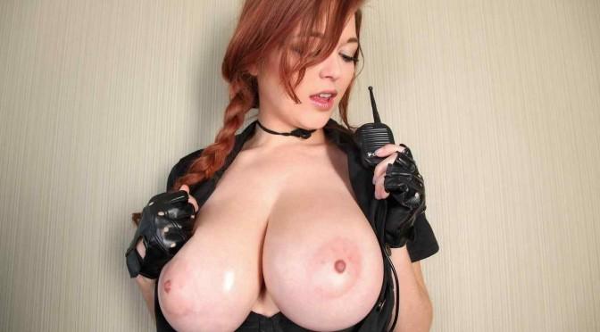 Busty Redhead Tessa Fowler Posing as a Sexy Cop!