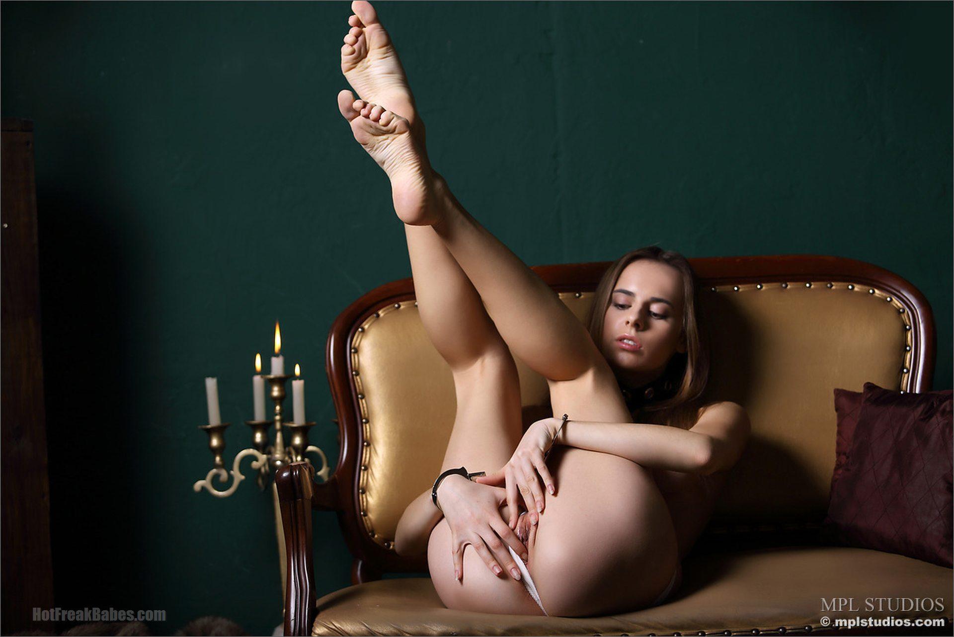 MPL Studios - Gracie in Unfettered, Aztek Santiago, nude, bare feet, shaved, handcuffs, bondage, slim girl, puffy nipples, MPL Studios, Russian Nudes, Erotic Art, Nude Teen, Studio Girl, Nudes Fashion