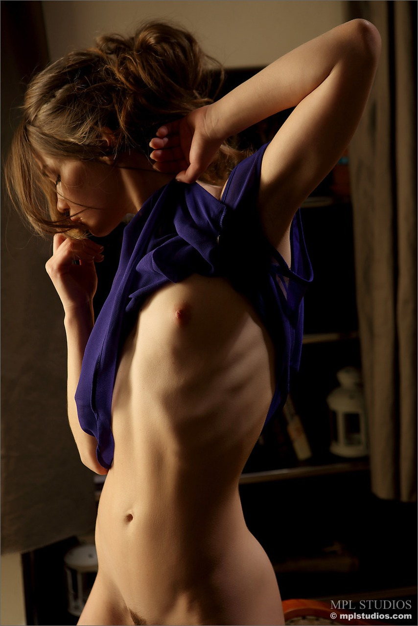 Nedda - Sleepless, Nedda, slim, brunette, nude, bare feet, MPL Studios, Russian Nudes, Erotic Art, Nude Teen, Studio Girls,  Nudes Fashion