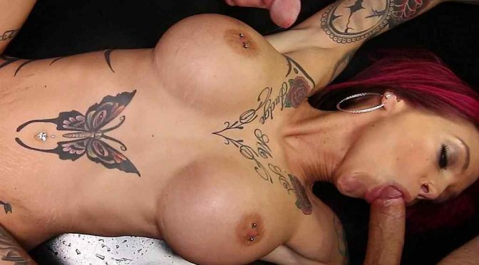 Anna Bell Peaks at Gangbang Creampie!